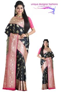 Look radiant in your saree attire by draping this beautiful