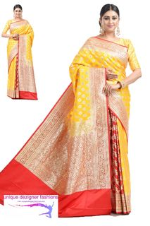 Look Outstanding In This Designer Saree
