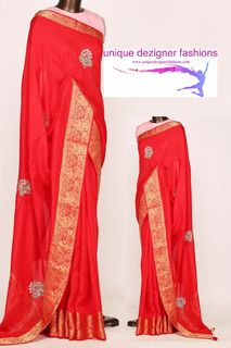 Go trendy and fashionably with this -Designer Saree
