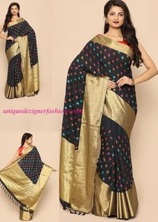 Look Stylish yet rooted in Indian ethos by wearing this  Silk Saree