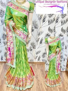 Drape this traditional yet trendy saree in elegance