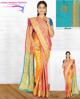 9a119867ca92f Deck up for any auspicious event in this-Designer Silk Saree