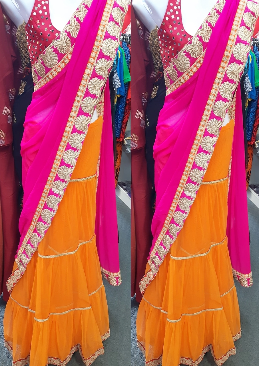 Carry a gracious ethnic aura by draping this saree
